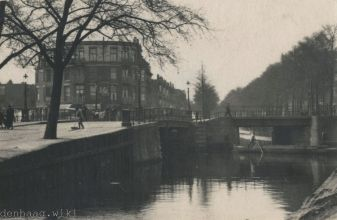 De Noord-West-Buitensingel in 1910.