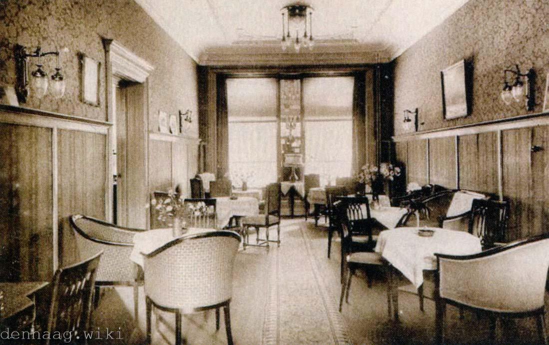 het interieur van hotel duinoord dit is de eetzaal in 1930 later hotel